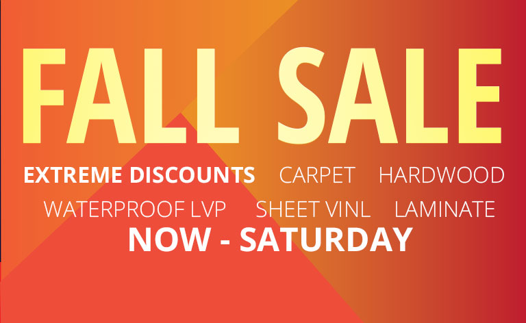 2018 Fall Flooring Sale